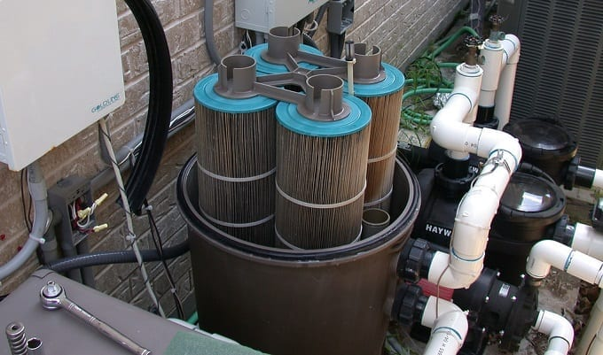 Using Pool Cartridge Filter