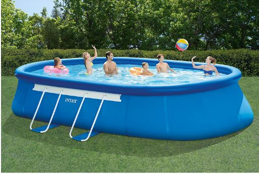 Intex Oval Frame Pool Set – 20ft X 12ft X 48in