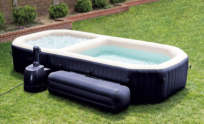 Intex PureSpa Inflatable Bubble Massage Hot Tub and Pool