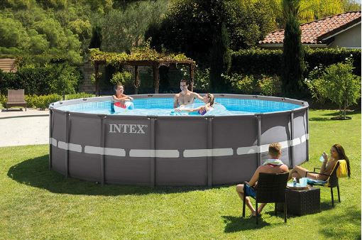 Intex Ultra Frame Round Pool Set – 18ft X 52in