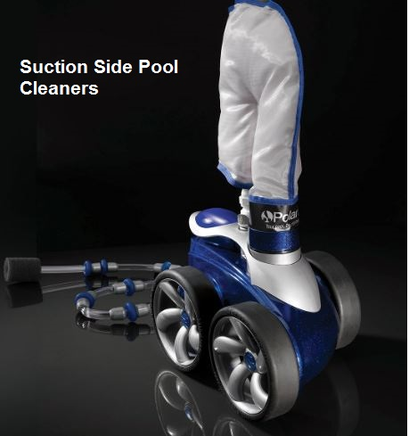 Suction side pool cleaners
