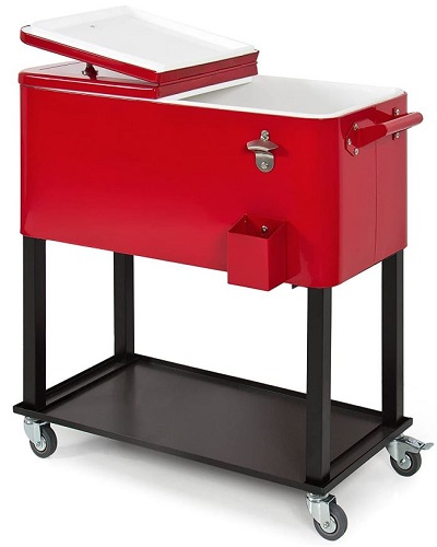 Best Choice Products Rolling Cooler Cart